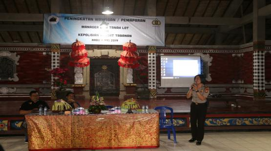 Tanah Lot Human Resource Development Program: Information Sharing About Development of Terrorism and its Prevention Efforts and Public Service Ethics