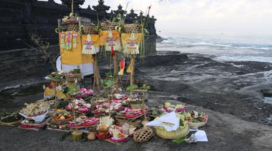 Procession of Renewal and Purification at Tanah Lot Area