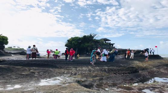 Ten Thousand Visitors at Tanah Lot for Three Days