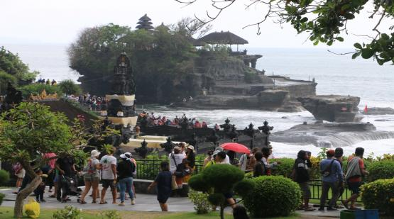 The beginning of 2020 in Tanah Lot